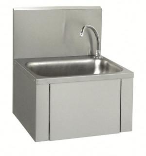 Eckiges Handwaschbecken mit Kniebedienung
