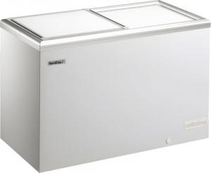 Kühl- / Tiefkühltruhe mit Alu-Schiebedeckel, 337 Liter