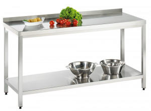 Arbeitstisch mit Grundboden mit Aufkantung - 1600 mm x 700 mm x 850 mm