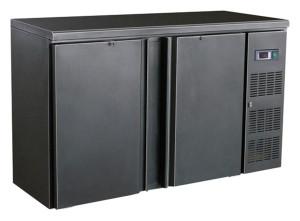 Flaschenkühltisch, 2 Türen, schwarz