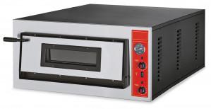 Edelstahl-Pizzaofen für 6 Pizzen Ø 30 cm