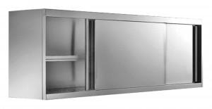 Wandhängeschrank mit Schiebetüren, 1600 mm x 400 mm x 650 mm