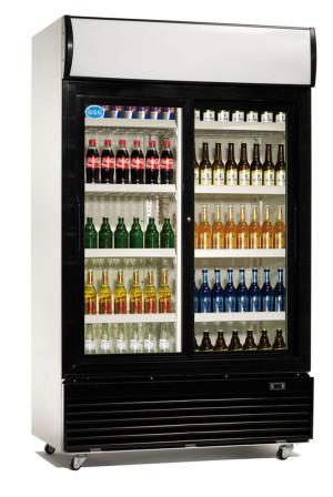 Kühlschrank mit Glastür, 2 Schiebetüren, 1000 Liter