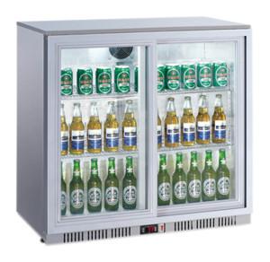 Kühlschrank mit Glastür, 2 Klapptüren