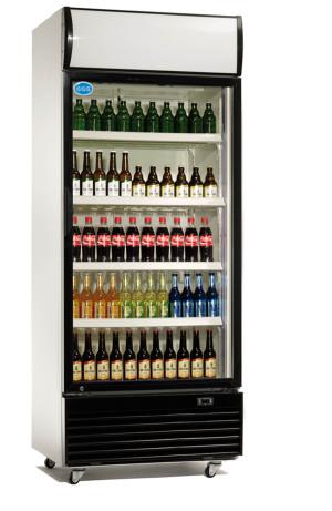 Kühlschrank mit Glastür, 660 Liter, 1 Klapptür