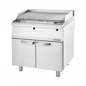 Gas-Lavastein-Grill als Standgerät, Serie 700 ND mit V-Rost, 400x700x850 mm