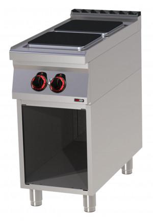 Elektroherd, 2 Platten eckig, Standgerät - 400 mm x 900 mm x 900 mm