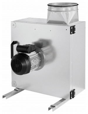 Abluftbox, 2700 m³/h, 591 cm x 521 cm x 315 cm, 230 V, 50 Hz, 450 W