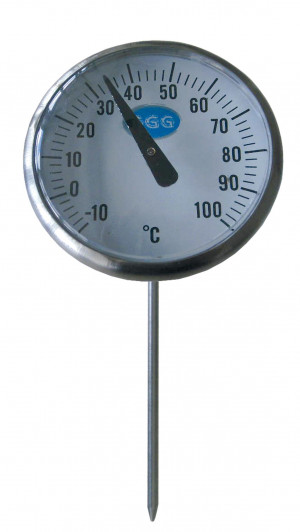 Einstech-Thermometer analog