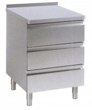 Schubladenblock 400 mm x 600 mm x 850 mm, mit Aufkantung 40 mm