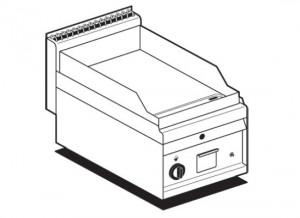 Griddleplatte / Grillplatte, Gas, gerillt