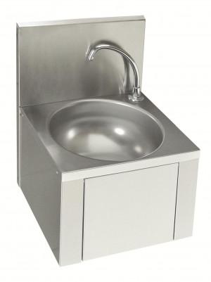Rundes Handwaschbecken mit Kniebedienung