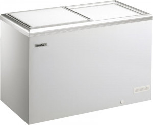 Kühl- / Tiefkühltruhe mit Alu-Schiebedeckel, 435 Liter