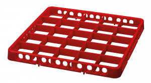 Spülkorbteiler, 25 Fächer, rot