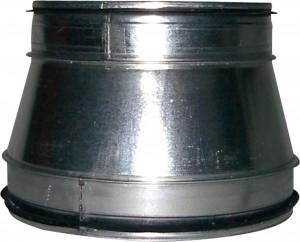 Reduzierung asymmetrisch von 250 mm Ø auf 315 mm Ø
