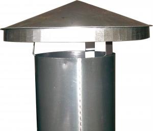 Regenhaube für 250er Rohre