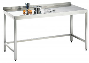 Arbeitstisch ohne Grundboden mit Aufkantung - 2400 mm x 600 mm x 850 mm