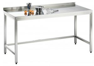 Arbeitstisch ohne Grundboden mit Aufkantung - 2500 mm x 700 mm x 850 mm