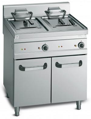 Elektro-Fritteuse, 800x700x900 mm, 2 x 18 Liter, 27 kW