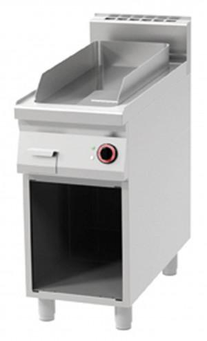 Griddleplatte mit offenem Unterbau, glatt, 400x900x900 mm,