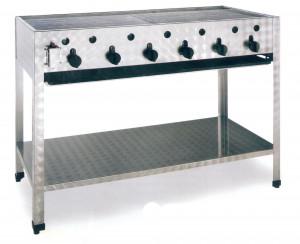 Kombibräter, Gas, Standgerät, 1145 mm x 530 mm x 830 mm