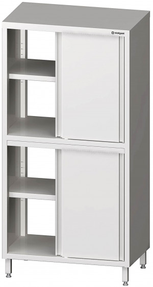 Durchreiche-Hochschrank  1200x500x2000 mmmit Schiebetüren mit zwei Schrankräumen