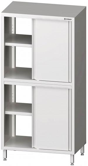Durchreiche-Hochschrank  1000x600x2000 mmmit Schiebetüren mit zwei Schrankräumen