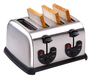 Toaster (4 Toasts),  340 x 305 x 195 mm,