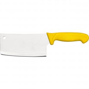 Hackbeil Premium, HACCP, Griff gelb, Edelstahlklinge 18 cm