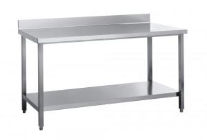 Arbeitstisch mit Grundboden und Aufkantung - 1600 mm x 700 mm x 850 mm